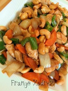 Frango Xadrez Asian Recipes, Indian Food Recipes, Healthy Recipes, Confort Food, Good Food, Yummy Food, Portuguese Recipes, Other Recipes, Food Inspiration