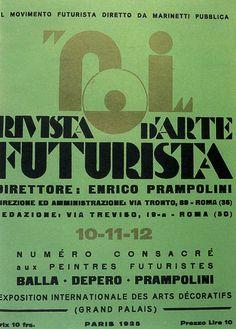 """""""NOI"""", Rivista d'Arte Futurista, Diretta da Enrico Prampolini, numero dedicato a Balla, Depero e Prampolini all'Exposition Internationale des Arts Decoratifs, Paris 1925."""