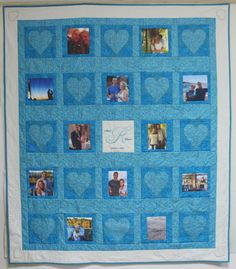Wedding Photo lap Quilt Customized and Personalized by CannStitch