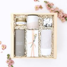 Blush Pink Relaxation Tea Box for Her from Loved and Found.