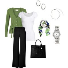Green, created by hotmama2u79 on Polyvore