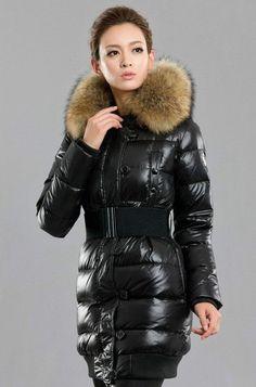 brand Large fur collar brief down coat