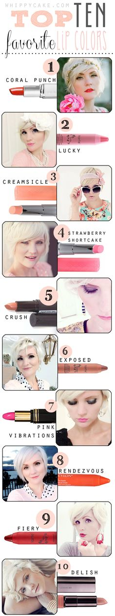whippy cake top 10 lipcolors