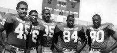 1965-66 Rose Bowl, key players. Michigan State University.  MSU was defeated by UCLA 14-12. Coach Duffy Daugherty.