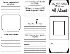 Non-Fiction Text Features Brochure - This brochure is perfect if your students are learning non-fiction text features. - Students choose any non-fiction book and then complete this brochure to summarize facts they learned, text features and vocabulary they learned and questions they still have. Students add their own illustrations and caption as well. Directions: Copy the two pages back to back and then fold into a 3 section brochure. Thank you from RealReadingRemedies. :)