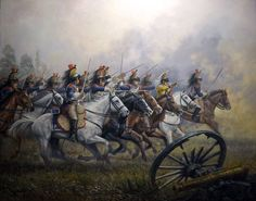 Cavalry charge of the 5th Regiment of French Cuirassiers. 1806 - 1810