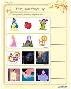 Fairy Tale Detective - Printable Fantasy Worksheet for Kindergarten