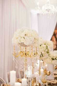 Wedding reception centerpiece idea; Featured Photographer: Denise Lin Photography