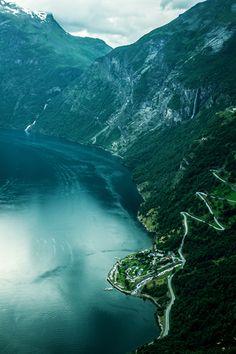 Eagle Road, Geiranger, Norway photo via katie
