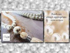 Long pearls tassel necklace