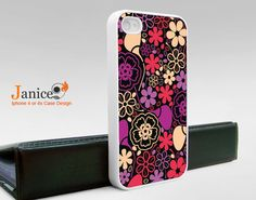 iphone 4s case iphone case iphone 4 cover sweet colorized classic red purple flower unique Iphone case. $13.99, via Etsy.