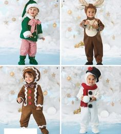Sewing Pattern Simplicity 2537 Baby Toddler Snowman Elf Christmas Costumes 6M 4 | eBay