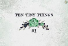 [ARTICLE] Ten Tiny Things #1