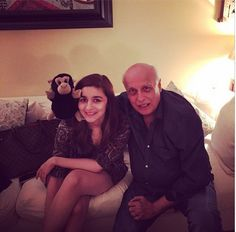 Alia Bhatt posted a picture along with daddy dearest Mahesh Bhatt and Rocky, her father's new friend.