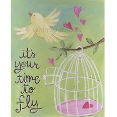 Fly the nest от whimsystudios на Etsy