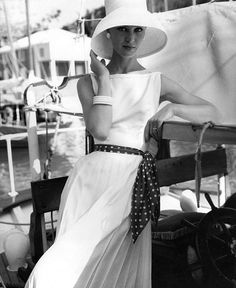So classic and perfectly summery! #boating #vintage #fashion #1950s