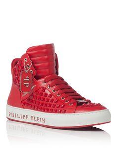 "PHILIPP PLEIN HIGH SNEAKERS ""BOBBY D"". #philippplein #shoes #"