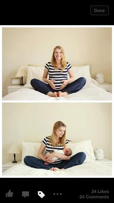 maternity - on location before and after...such a great idea!