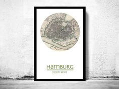 HAMBURG  city poster  city map poster print by ALLCITYPOSTERS