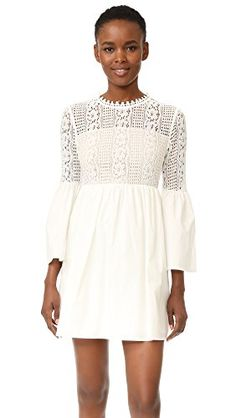 endless rose Womens Lace Mini Dress Off White Large >>> For more information, visit image link.
