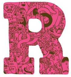 """""""R"""" By Zeptonn, an illustrator from the Netherlands."""