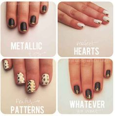 Use a gold sharpie to make all kinds of easy designs.