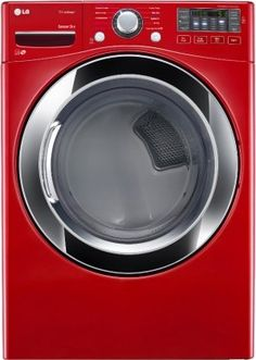 LG DLGX3371R 7.4 Cu. Ft. Wild Cherry Red Stackable With Steam Cycle Gas Dryer - Energy Star * Additional info @ http://www.laminatepanel.com/store/lg-dlgx3371r-7-4-cu-ft-wild-cherry-red-stackable-with-steam-cycle-gas-dryer-energy-star/?vw=100716035519