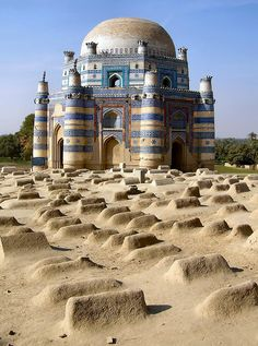The Tomb of Bibi Jawindi is one of the five monuments in Uch Sharif, Pakistan which are on the tentative list of the UNESCO World Heritage Sites. It was built in 1493 by Iranian Prince Dilshad for Bibi Jawindi who was the great granddaughter of Jahaniyan Jahangasht, a famous Sufi saint. Uch is an important historical city, having been founded by Alexander the Great.