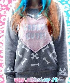 Kawaii Pastel Goth Creepy Cute Bones Fluffy by MilkshopKawaiiShop, €47.00