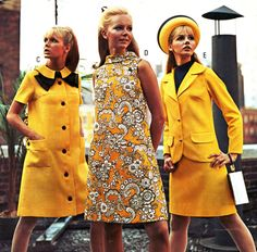 vintagefashionandbeauty:  Yellow styles in J.C. Penneys catalog, spring/summer 1968. (♥) Sneakers Fashion, High Neck Dress, Vintage, Dresses, Style, Vestidos, Swag, Gowns, The Dress