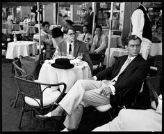 """imperfecthope:  """" """"matt damon and jude law on the set of 'the talented mr ripley' in rome; photographed by brigitte lacombe  """" """""""