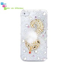 Handmade hard case, back cover for iPhone 4 & 4S: Golden fox (custom are welcome)