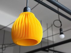 Ribone Lamp Shades by Martin Zampach- 3D printed with environmentally friendly corn-starch based PLA material #lighting
