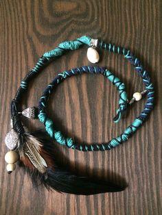 Hairwrap, Hair Accessories, Hair Jewelry, Bohemian Jewelry, Tribal Jewelry by DikariCrafts