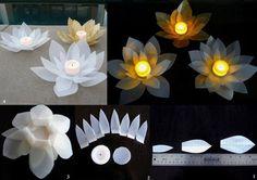 Milk carton flower luminaries