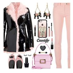 """CASETIFY - PINK & BLACK"" by deborah-calton ❤ liked on Polyvore featuring Roger Vivier, Casetify, Christopher Kane, Balenciaga, MAC Cosmetics, OPI, Too Faced Cosmetics, Anrealage and Rimini"