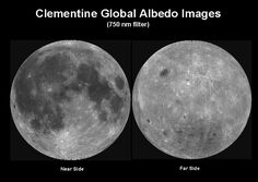 Both sides of the moon. The far side we never see.      http://www.lpi.usra.edu/lunar/missions/clementine/images/img5_lg.gif