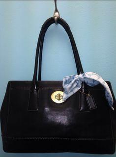 Classic, always.  Coach Hampton. Black leather handbag.  $109