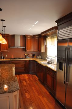 Kitchen Cabinets Perimeter Is Homecrest Sedona Maple French
