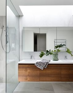 Cheap Bathroom Vanities Ideas Very close match for wall and floor neutrals, with wood vanity + white Cheap Bathroom Vanities, Cheap Bathrooms, Ensuite Bathrooms, Bathroom Toilets, Laundry In Bathroom, Bathroom Renos, Bathroom Renovations, Shower Bathroom, Remodel Bathroom
