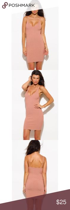 🌸DUSTY PINK KNIT MIDI DRESS🌸 🔥shop this hot sexy dress 🌸Unlined Fitted 90% Rayon 10% spandex made in USA Dresses Midi