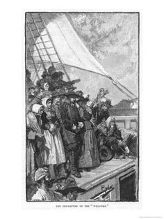 size: Giclee Print: William Penn and Other Quakers Sail to the New World in the Welcome by Howard Pyle : Howard Pyle, William Penn, Sailing Regatta, Welcome Poster, Spiritual Beliefs, Early American, Original Image, Vintage Prints, American History