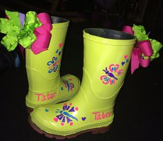 DIY Paint Rain boots
