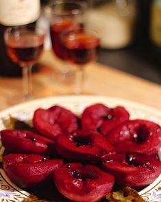 Juicy red wine roasted pears via 66 Square Feet: A Delicious Life.