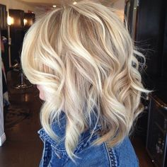 Platinum Blonde Hair With Lowlights | Shoulder Length Blonde Curls by suzette