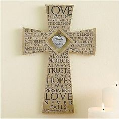 Love Is Patient Cross | Engagement Gifts For Couples, Him, Her, Fiance, Fiancee