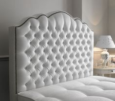 The Amelia Diamante is a luxiourious headboard which has streight sides and an ornate curved top with inset diamante studs arranged diagonally across it. This stunning headboard also features attractive boarder around the edge. The smooth leather makes it really comfy for you and this specific headboard catches your eye very quickly. This is a winner all round. http://www.chicconcept.co.uk/5141-amelia-diamante-5055157622873.html