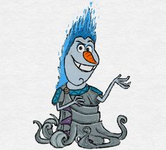 Olaf [as Hades] (Drawing by TortallMagic Disney Olaf, Elsa Olaf, Disney Frozen, Disney Art, Olaf Frozen, Elf Drawings, Cute Disney Drawings, Cute Drawings, Disney Drawings