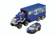 Fisher-Price Shake and Go Racers NASCAR Haulers Johnson by Fisher-Price. $68.99. From the Manufacturer                Kids can haul their NASCAR vehicles from race to race-just like the real ones. This Shakes 'N Go trailer rig is packed with 2-in-1 fun. Open it up to reveal a cool starting gate. Shake up your Johnson car to rev it up, place it at the starting gate, press the button and watch it go. This car requires 3 AA alkaline batteries.