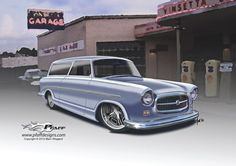 Nash Rambler, cool car art.